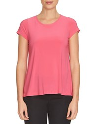 Cece Sweet Heart Lace Trimmed T Shirt Pink