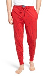 Polo Ralph Lauren Men's Knit Pony Lounge Pants Red