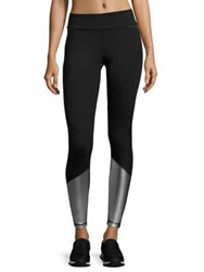 Alala Colorblock Ankle Tights Silver Black