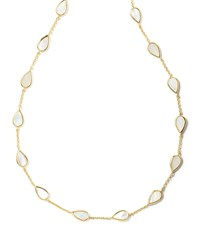 Ippolita 18K Rock Candy Small Mother Of Pearl Pear Station Necklace Size S White