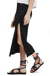 Women's Topshop Thigh Split Jersey Midi Skirt