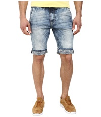 Buffalo David Bitton Dean Short Vintage And Sanded Men's Shorts Blue