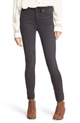 Free People Women's 'Peyton' High Rise Skinny Jeans Black
