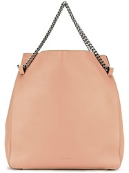 Jil Sander Double Chain Straps Tote Nude Neutrals