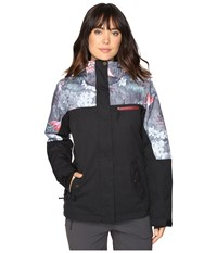 Roxy Jetty Block Jacket Hawaiian Tropik Women's Coat Black