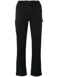 Carhartt Straight Trousers Cotton Polyester Black