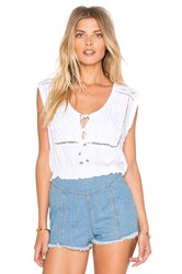 Somedays Lovin Lagoon Cutwork Top White