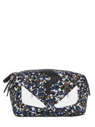Fendi Monster Printed Leather Toiletry Bag