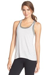 Women's Betsey Johnson Scalloped Space Dye Tank Quicksilver