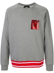 N 21 No21 Pocket Detail Sweatshirt Grey
