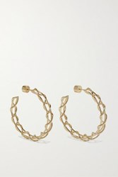 Jennifer Fisher Baby Lace Up Gold Plated Hoop Earrings One Size
