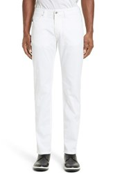 Armani Collezioni Men's Slim Five Pocket Pants White