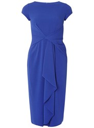 Dorothy Perkins Luxe Blue Frill Manipulated Dress