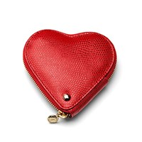 Aspinal Of London Heart Coin Purse Berry
