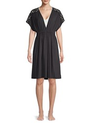 Gottex Lace Trimmed Jersey Tunic Black
