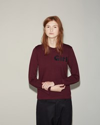 Comme Des Garcons Wool Jersey Girl Tee Burgundy