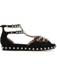 Alaia Studded Suede Sandals Black