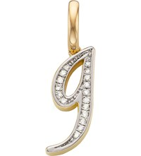 Monica Vinader 18Ct Yellow Gold Vermeil And Diamond Alphabet Pendant G