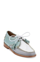 G.H. Bass Women's And Co. 'Winnie' Leather Oxford Light Blue Grey Leather
