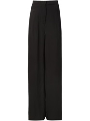 Barbara I Gongini Wide Leg Trousers Black