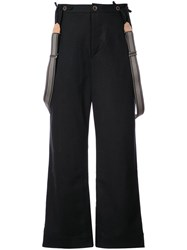 Individual Sentiments Wide Leg Trousers Black