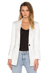 Native Stranger Straight Cut Blazer White