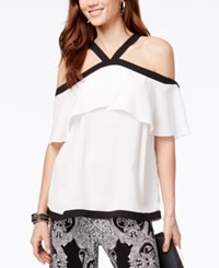 Inc International Concepts Off The Shoulder Halter Top Only At Macy's Washed White