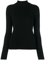 Pringle Of Scotland Ribbed Roll Neck Sweater Black