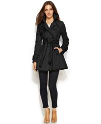 Betsey Johnson Flared Corset Back Trench Coat