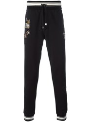 Dolce And Gabbana Musical Patch Trackpants Black