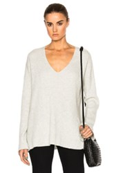 Rag And Bone Phyllis Cashmere V Neck Sweater In Gray