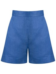 Andrea Marques High Waisted Shorts Blue