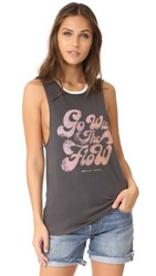 Spiritual Gangster Go With The Flow Rocker Tank Vintage Black