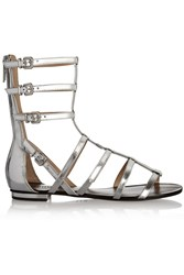 Schutz Metallic Leather Gladiator Sandals