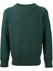 Golden Goose Deluxe Brand Knitted Textured Sweater Green