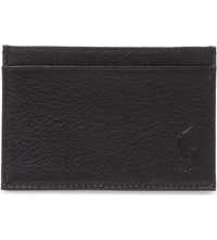 Ralph Lauren Pony Embossed Leather Card Case Black