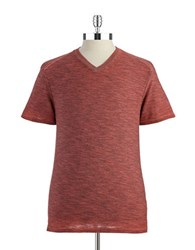 Union Marled V Neck T Shirt Fusion Red