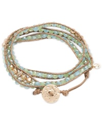 Lonna And Lilly Glass Bead Wrap Style Bracelet Light Gree
