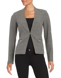 Calvin Klein Plaid Knit Blazer Black Moonlight