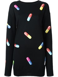 Moschino Pill Print Sweater Dress Black