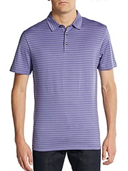 Robert Barakett Malcolm Striped Pima Cotton Polo