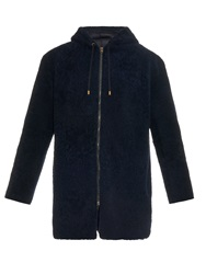 Ines And Marechal Winnerbis Hooded Shearling Coat