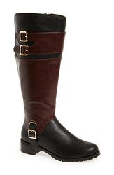 Bella Vita Women's 'Adriann Ii' Knee High Boot Black Burgundy Faux Leather