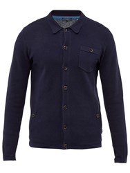 Ted Baker Jackso Collared Cardigan Navy