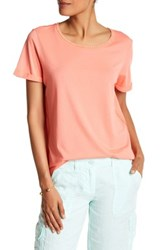 Tommy Bahama Embellished Seaport Short Rolled Sleeve Tee Pink