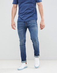 Selected Homme Slim Fit Mid Blue Jeans Mid Blue