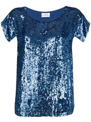 P.A.R.O.S.H. Sequined Top Blue