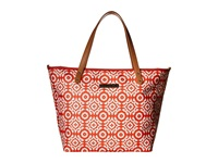 Petunia Pickle Bottom Glazed Downtown Tote Relaxing In Rimini Tote Handbags Red