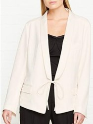Alexander Wang T By Drape Poly Twill Front Tie Tux Blazer White