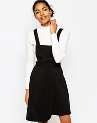 Wood Wood Maria Pinafore Dress With Detatchable Top Black